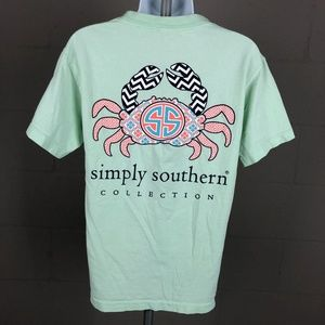 Simply Southern Women's T-shirt Size S Green RK4